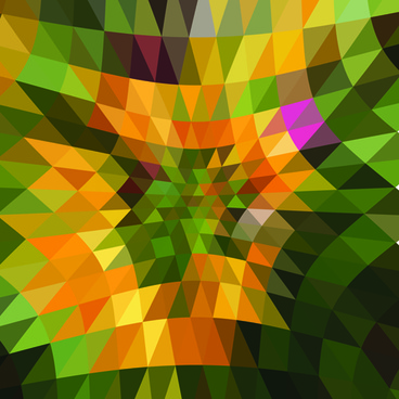 colored triangle abstract background vector