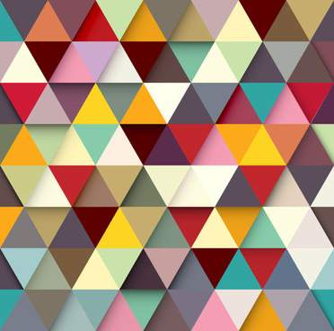 colored triangle vector background
