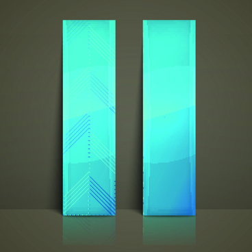 colored vertical banner vector