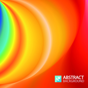colored wave art free background vector