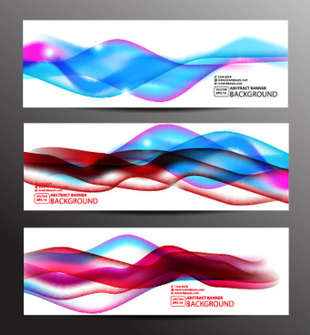 colored wavy banner vector graphics