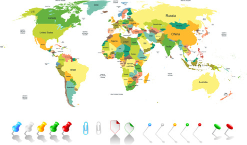 Colorful World Map Free Vector Download 29 240 Free Vector For