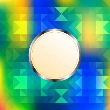 colorful abstract background blank circle decoration