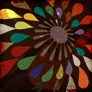 colorful abstract background grungy vignette style