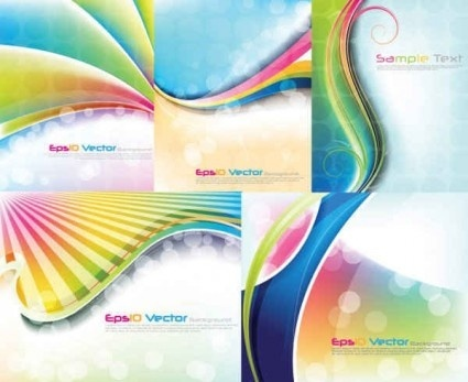 colorful abstract background set vector