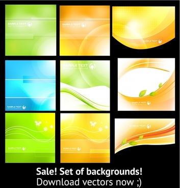 abstract background templates bright colored modern design