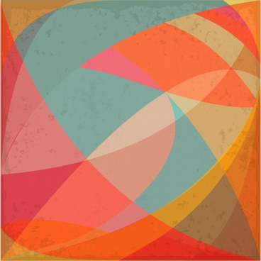 colorful abstract background vintage style curved line decoration