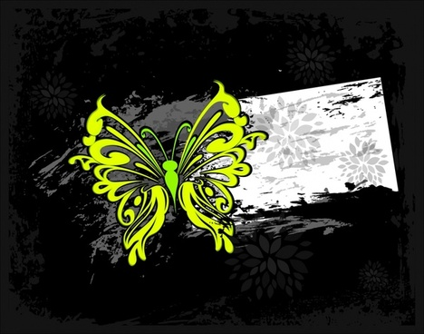 colorful abstract butterfly silhouette vector