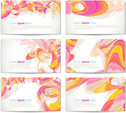 colorful abstract cards vector graphics