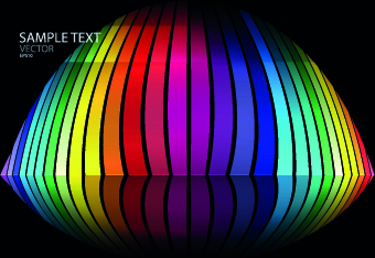colorful abstract design elements background