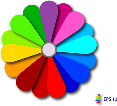 colorful abstract flower symbol