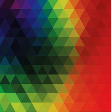 colorful abstract geometric triangular vector illustration