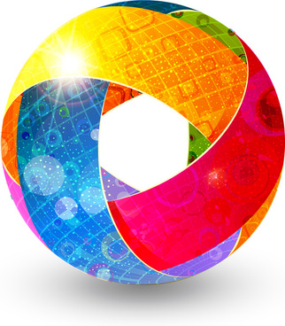 colorful abstract globe
