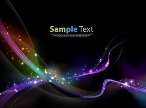 Colorful Abstract Light Wave Vector Background
