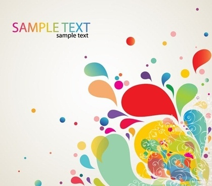 Colorful Abstract Splash Design Vector