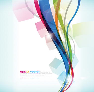 colorful abstract vector lines