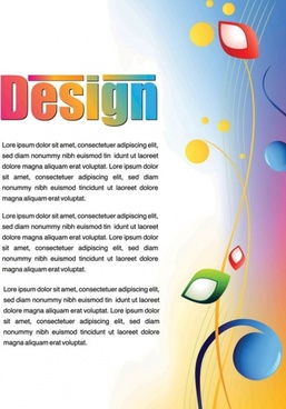 colorful advertising posters 02 vector
