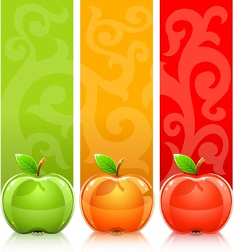 decorative background templates shiny apple icons colored vertical