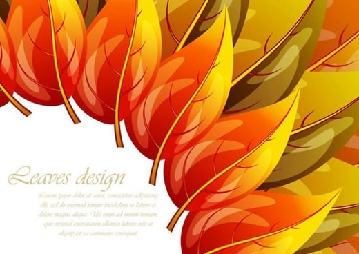 colorful autumn leaf veins vector