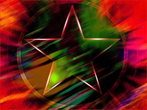 colorful background star