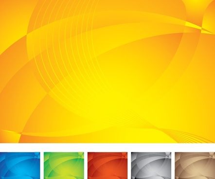 abstract background templates modern colored curves ornament