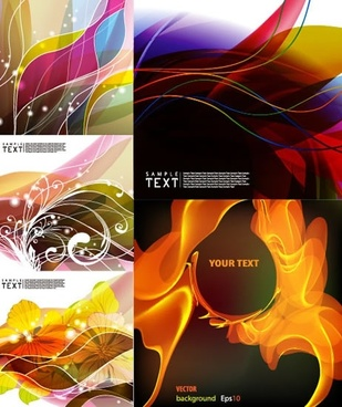 decorative background templates modern colorful abstract dynamic decor