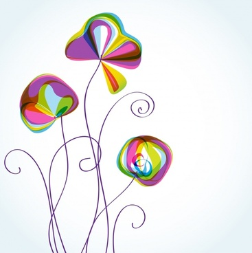 botany background colorful handdrawn flat decor