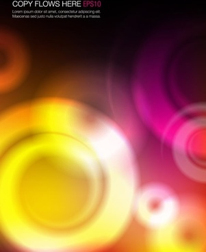 abstract background modern colorful blurred circles closeup