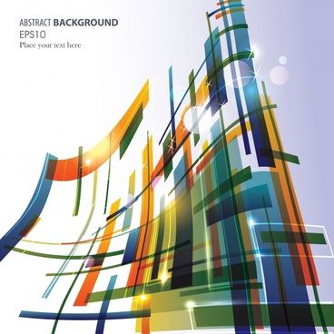 decorative abstract background template modern colorful 3d decor