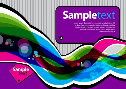 decorative banner template colorful dynamic curves shapes