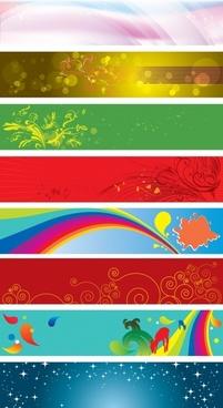 decorative background sets nature themes colorful horizontal design