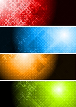 technology backgrounds templates sparkling colored abstract decor