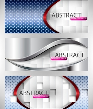colorful banner vector flow lines