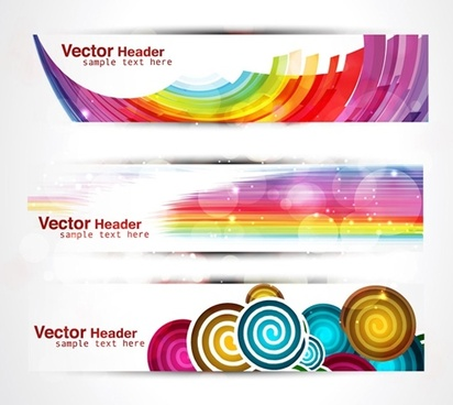 decorative banners templates abstract colorful modern decor