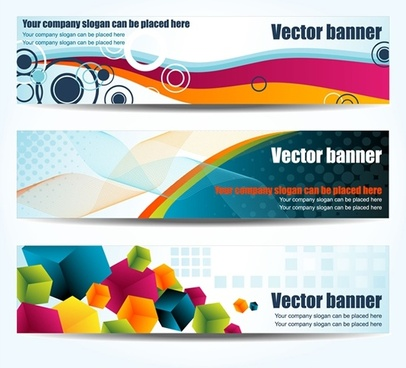 colorful banners vector geometry