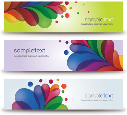 colorful banners vector graphic