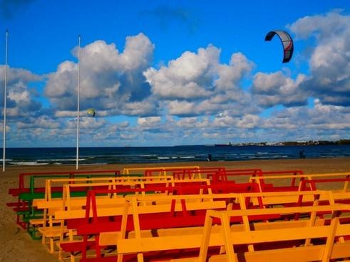 colorful beach sky