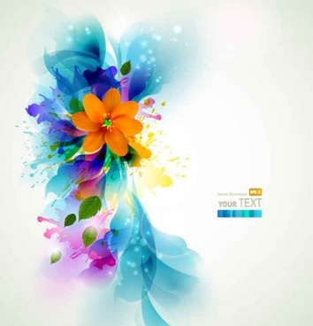 Colorful Blue flowers background