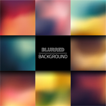 colorful blurred art backgrounds vector