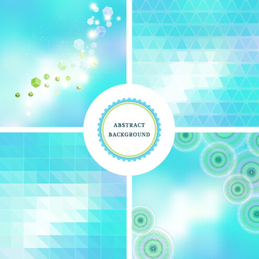 colorful blurs elements background vector