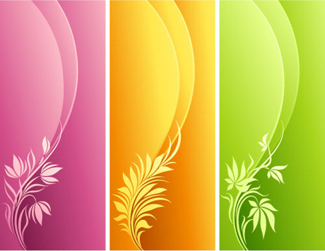 colorful border banner vector