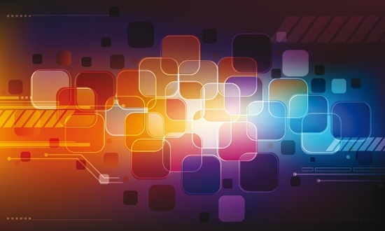 technology abstract background modern colorful squares decor