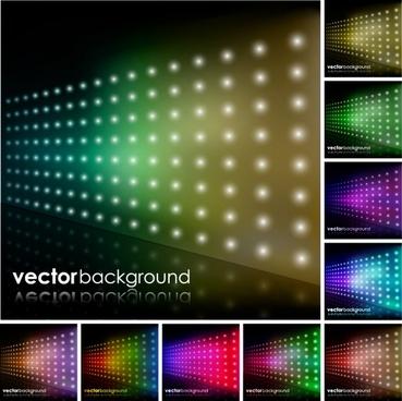 colorful bright brilliant starlight background vector