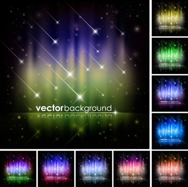 colorful bright brilliant starlight christmas background vector illustration