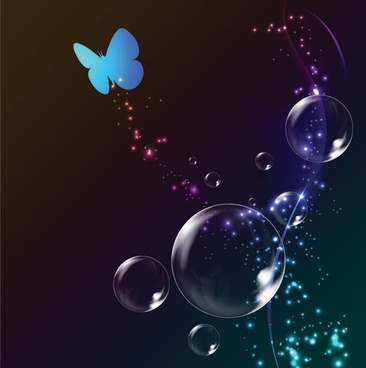 colorful bubble background 02 vector