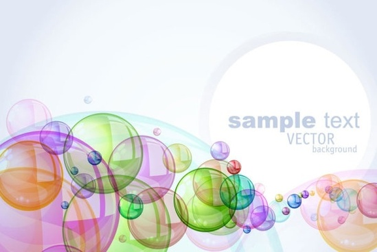 colorful bubbles background 03 vector