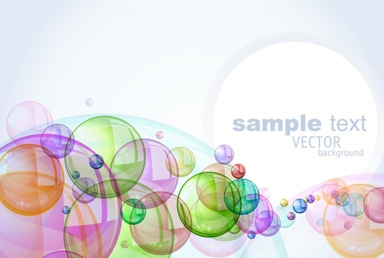 colorful bubbles background vector halo