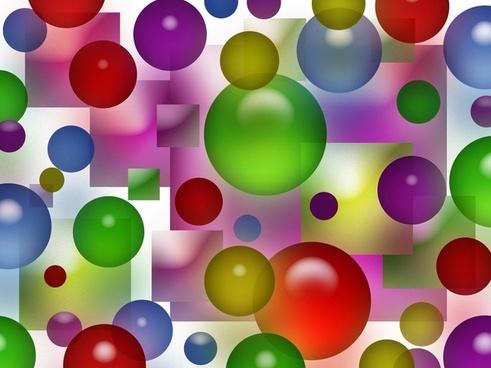colorful bubbles squares background