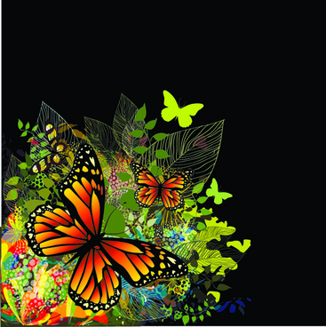 colorful butterflies design vector