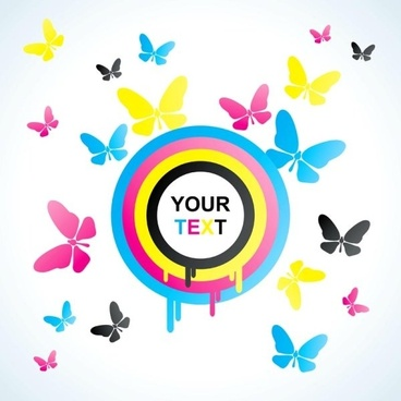 colorful butterfly background 01 vector